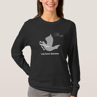 Dove of Hope White Ribbon - Lung Cancer T-Shirt