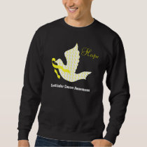 Dove of Hope Yellow Ribbon - Testicular Cancer Sweatshirt