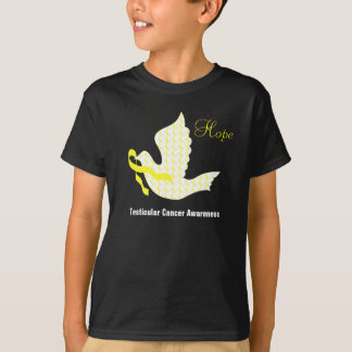 Dove of Hope Yellow Ribbon - Testicular Cancer T-Shirt
