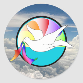 Dove of Love (LGBTIQ) Classic Round Sticker