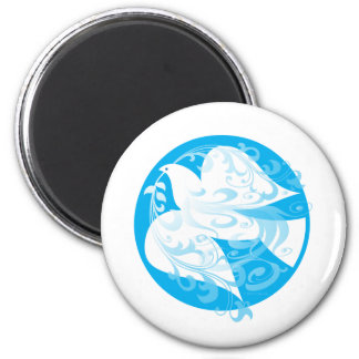 Dove of Peace 2 Inch Round Magnet