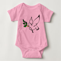 Dove of Peace Baby Outfit Baby Bodysuit