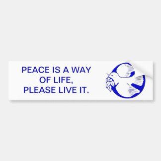 Dove of Peace Bumper Stickers
