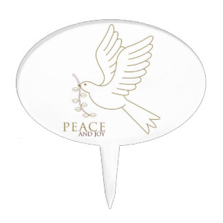 Dove of peace cake topper