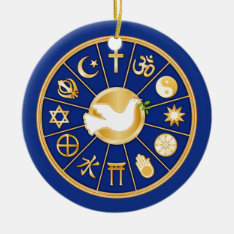 Dove Of Peace Ceramic Ornament at Zazzle
