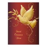 Dove of peace Christmas 5.5x7.5 Paper Invitation Card