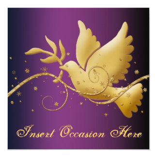 Dove of peace Christmas religious Card
