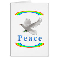 Dove of peace greeting cards