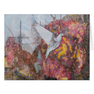 'Dove of Peace' Large Greeting Card