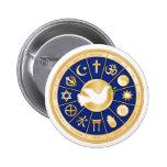 Dove of Peace Mandala Pinback Buttons