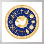 Dove of Peace Mandala Print