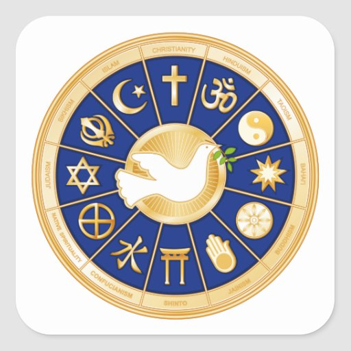 Dove of Peace Mandala Stickers