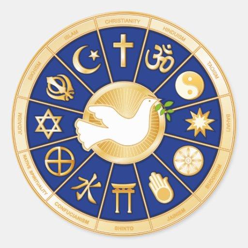 Dove of Peace Mandala Round Sticker