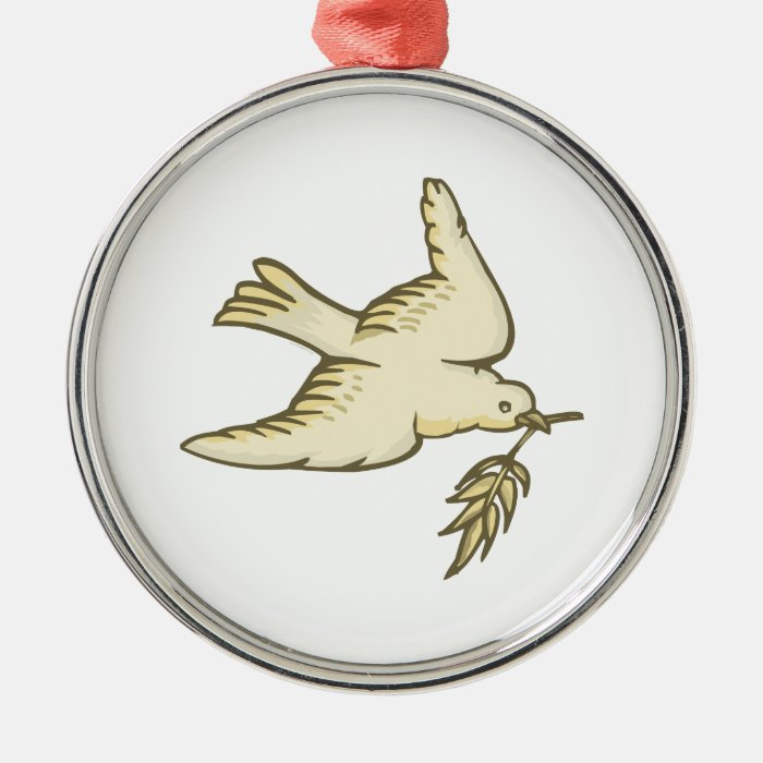 Dove of Peace Metal Ornament
