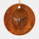 Dove of Peace Double-Sided Ceramic Round Christmas Ornament