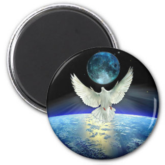 Dove of Peace over Planet Earth Magnet
