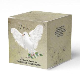 Dove of Peace Personalized Scripture Verse Favor Box