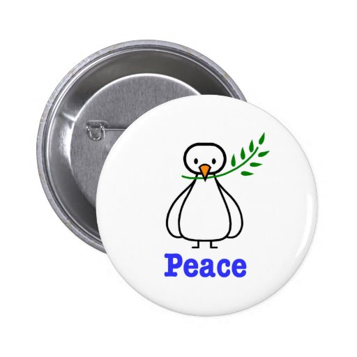 Dove of Peace Pinback Buttons