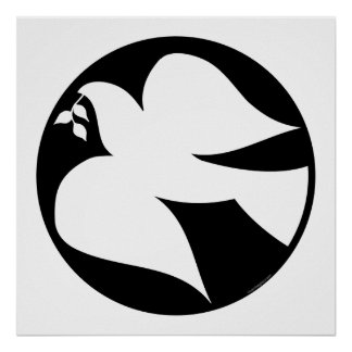 Dove of Peace Sign Poster