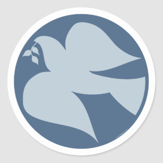 Dove of Peace Sign Stickers