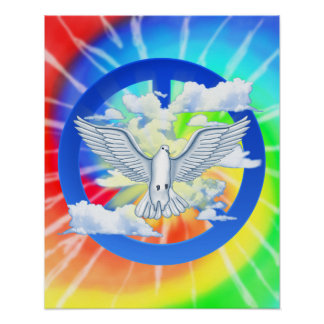 Dove Of Peace Tie Dye Poster