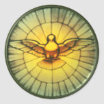 Dove of the Holy Spirit Classic Round Sticker