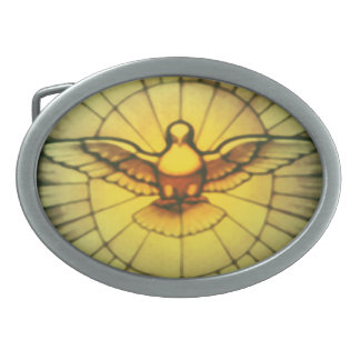 Dove of the Holy Spirit Oval Belt Buckle