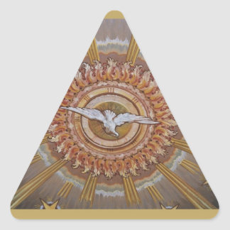 Dove of the Holy Spirit Triangle Sticker