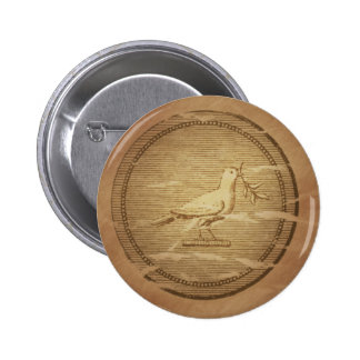 Dove & Olive Branch Rescue Greek Buttons