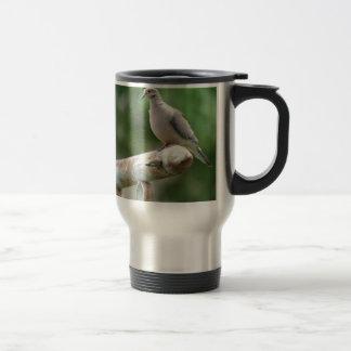 Dove on a Post Travel Mug
