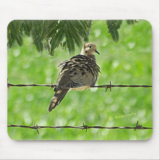 Dove on a Wire Mouse Pad