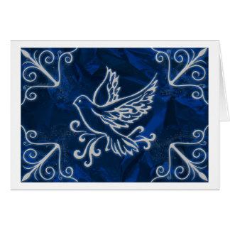 Dove on Blue Foil Card