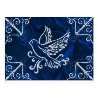 Dove on Blue Foil Postcard