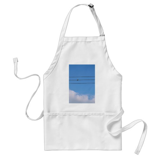 Dove on the wire adult apron