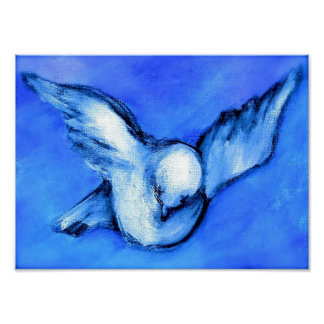 Dove-Original Art by SQ Streater Poster