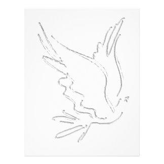 Dove Outline Letterhead