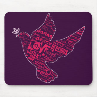Dove Peace Collage Mouse Pads