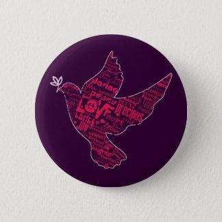 Dove Peace Collage Pinback Button