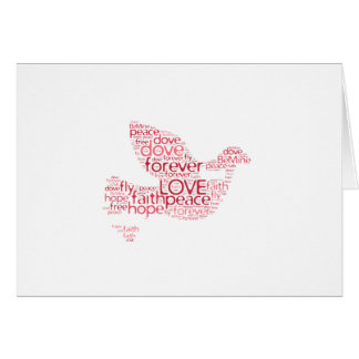 Dove Peace Love Valentines Day Word Cloud Card