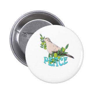 Dove Peace Pinback Button