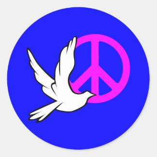 dove peace round stickers
