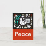 """Dove -- Peace with Shakespeare Holiday Card<br><div class=""""desc"""">Wish your loved ones """"Health,  peace,  and sweet content"""" this holiday season.  Graced with an photograph of a stained glass image of a dove,  this card elicits feelings of peace and love. Everything on this card can be modified.  Make this your own by customizing it!</div>"""
