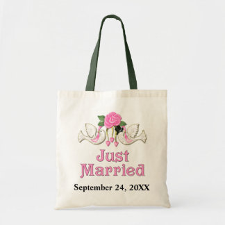 Dove & Rose - Just Married T-shirt Tote Bags
