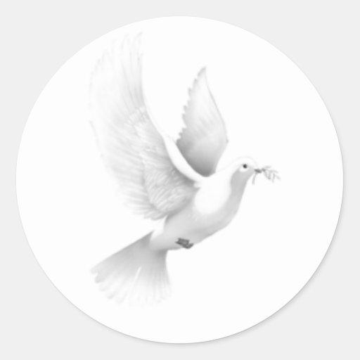dove round stickers