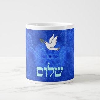 Dove - Shalom 20 Oz Large Ceramic Coffee Mug