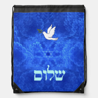 Dove - Shalom Drawstring Backpack