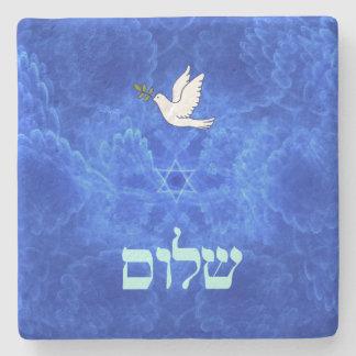 Dove - Shalom Stone Coaster