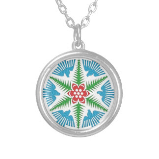 Dove Snowflake Silver Plated Necklace