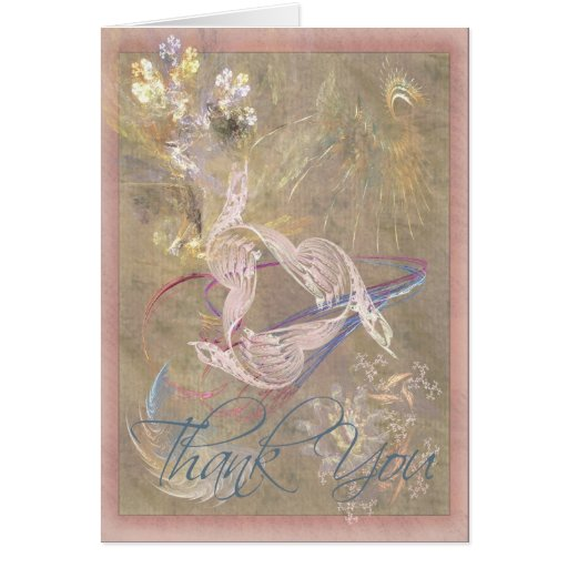 Dove Song Thank You Greeting Card