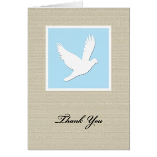 Dove Sympathy Thank You Card